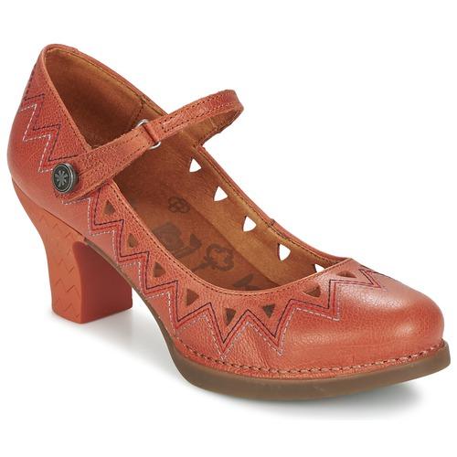 Schuhe Damen Pumps Art HARLEM 943 Korallenrot
