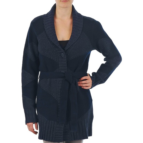 Kleidung Damen Strickjacken Gant N.Y. DIAMOND SHAWL COLLAR CARDIGAN Marine