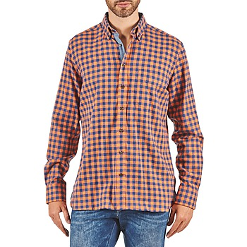 Hemden Hackett SOFT BRIGHT CHECK Orange / Blau 350x350