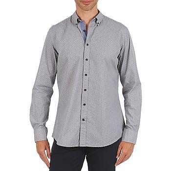 Kleidung Herren Langärmelige Hemden Hackett MEDALLION MULTI BD Blau