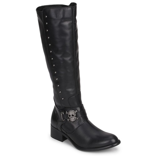 Schuhe Damen Klassische Stiefel Betty London RIME ROCK Schwarz
