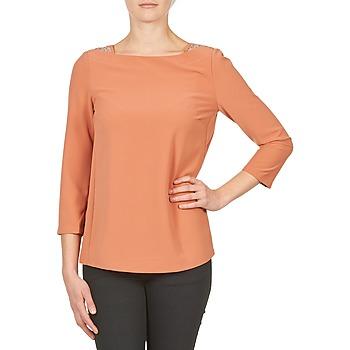 Kleidung Damen Langarmshirts Color Block 3214723 Korallenrot