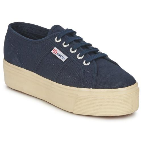 Superga 2790 LINEA UP AND Marine  Schuhe Sneaker Low Damen