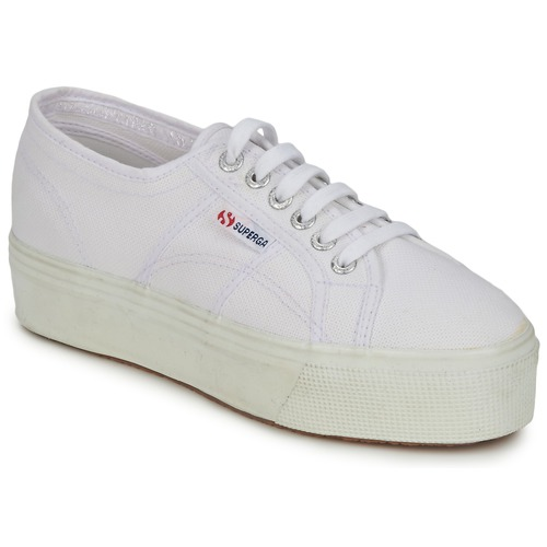 Schuhe Damen Sneaker Low Superga 2790 LINEA UP AND Weiss