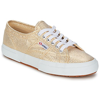 Schuhe Damen Sneaker Low Superga 2751 LAMEW Gold