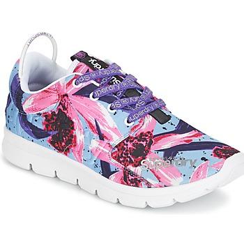 Schuhe Damen Sneaker Low Superdry SUPERDRY SCUBA RUNNER Rose / Blau