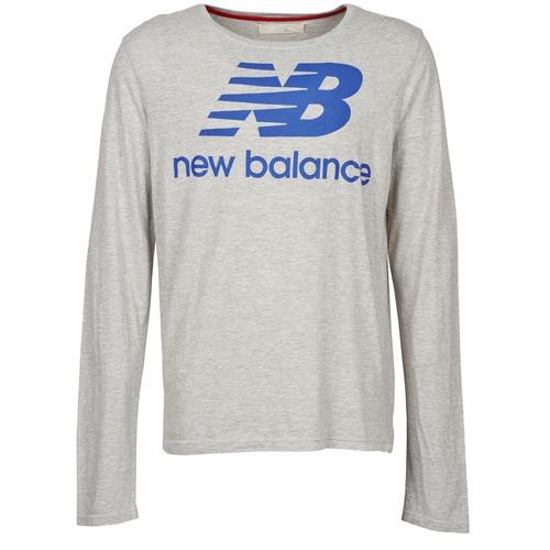 Kleidung Herren Langarmshirts New Balance NBSS1403 LONG SLEEVE TEE Grau