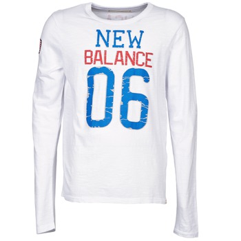 Kleidung Herren Langarmshirts New Balance NBSS1404 GRAPHIC LONG SLEEVE TEE Weiss