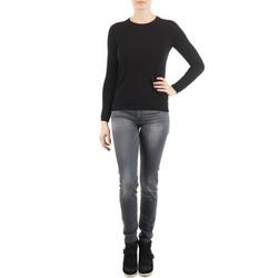 Kleidung Damen Slim Fit Jeans 7 for all Mankind THE SKINNY DARK STARS PAVE Grau