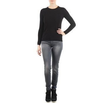 Kleidung Damen Slim Fit Jeans 7 for all Mankind THE SKINNY DARK STARS PAVE Grau