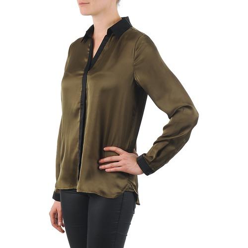 La City O Chem Patte Kaki / Schwarz - Kostenloser Versand | Kleidung Hemden Damen 4399