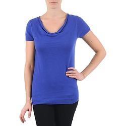 Kleidung Damen T-Shirts La City PULL COL BEB Blau
