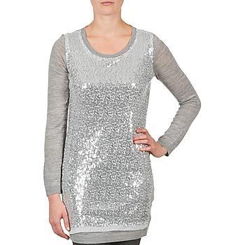 Kleidung Damen Tuniken La City PULL SEQUINS Grau