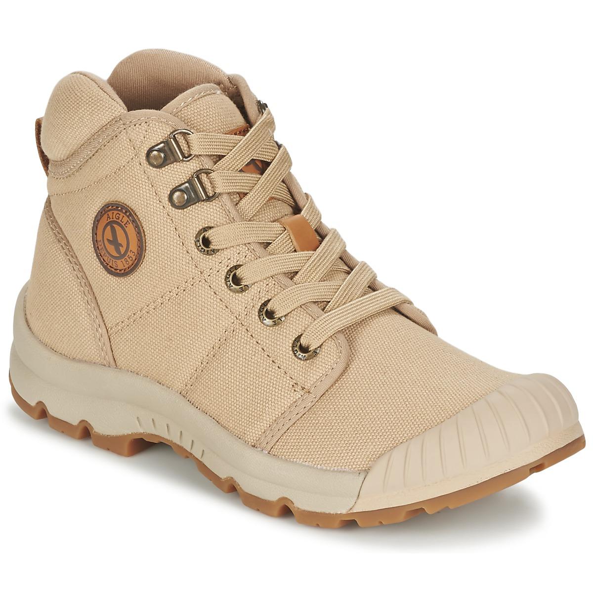 Aigle TENERE LIGHT Beige - Kostenloser Versand bei Spartoode ! - Schuhe Sneaker High Damen 67,99 €