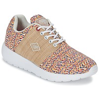 Schuhe Damen Sneaker Low Le Temps des Cerises FLY Schwarz / Tabak