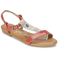 Schuhe Damen Sandalen / Sandaletten Le Temps des Cerises CARLY CORAIL Korallenrot