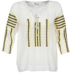 Kleidung Damen Tops / Blusen Stella Forest ATU025 Weiss / Grau / Gelb