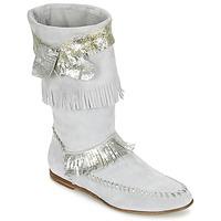 Schuhe Damen Klassische Stiefel Now MATELI Grau / Silbern