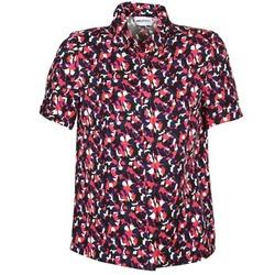 Kleidung Damen Kurzärmelige Hemden American Retro NEOSHIRT Schwarz / Rose / Orange