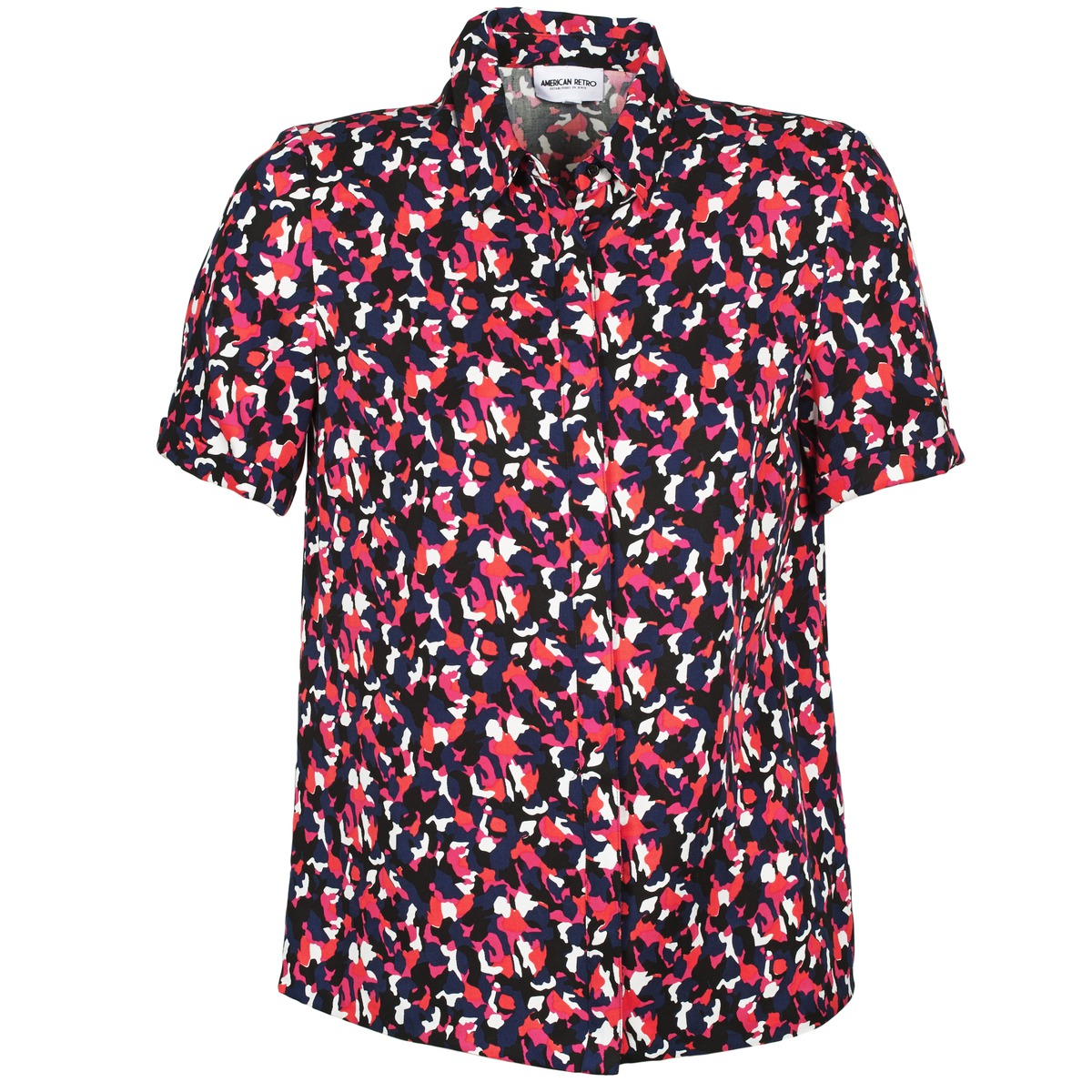 American Retro NEOSHIRT Schwarz / Rose / Orange