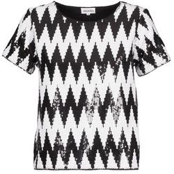Kleidung Damen T-Shirts American Retro GEGE Schwarz / Weiss