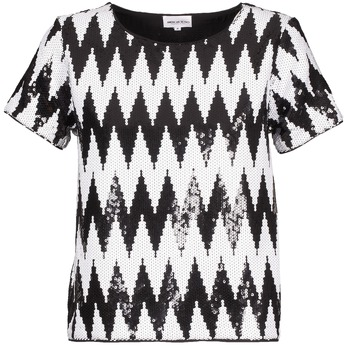 T-Shirts & Poloshirts American Retro GEGE Schwarz / Weiss 350x350