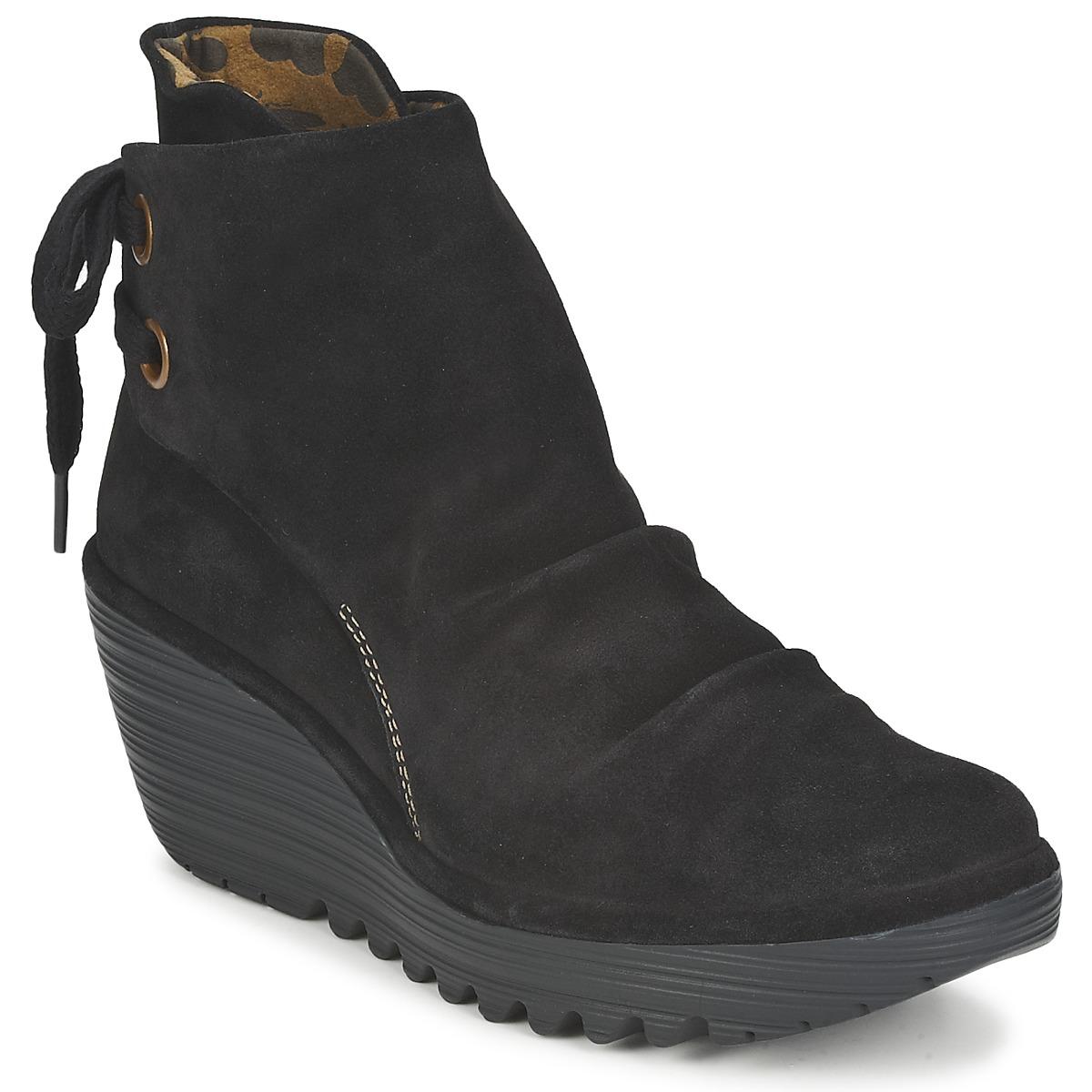 Fly London YAMA Schwarz - Kostenloser Versand bei Spartoode ! - Schuhe Low Boots Damen 92,00 €