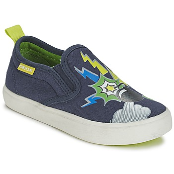 Schuhe Jungen Slip on Geox KIWI B. D Blau / Grün