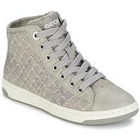 Schuhe Mädchen Sneaker High Geox CREAMY B Grau