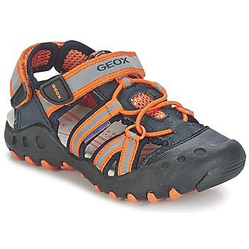 Schuhe Jungen Sportliche Sandalen Geox SAND.KYLE C Marine / Orange