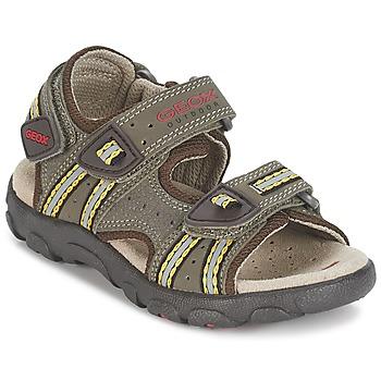Schuhe Jungen Sportliche Sandalen Geox S.STRADA A Braun / Ocker