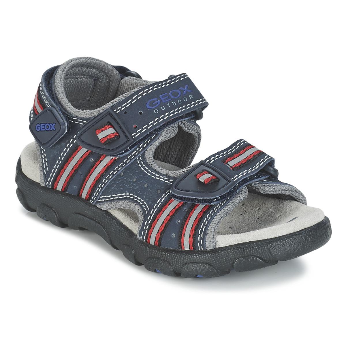 Geox SSTRADA A Marine / Rot - Kostenloser Versand bei Spartoode ! - Schuhe Sportliche Sandalen Kind 49,99 €
