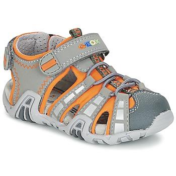Schuhe Jungen Sportliche Sandalen Geox SANDAL KRAZE B Grau / Orange