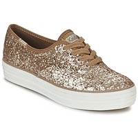 Schuhe Damen Sneaker Low Keds TRIPLE GLITTER Gold