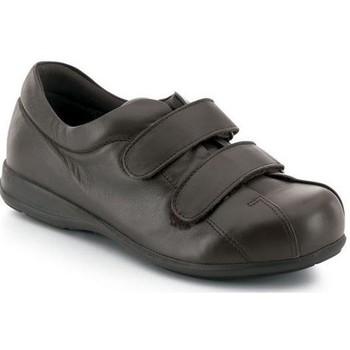Schuhe Damen Sneaker Low Calzamedi Unisex Velcro  diabetischen Fuß BRAUN