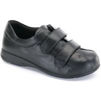 Schuhe Damen Boots Calzamedi Unisex Velcro  diabetischen Fuß SCHWARZ