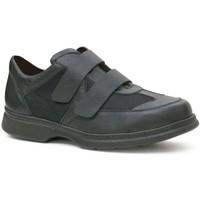 Schuhe Herren Derby-Schuhe Calzamedi Doppelklettschuh diabetischen Fuß BLACK
