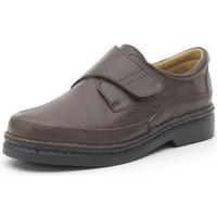 Schuhe Herren Derby-Schuhe Calzamedi bequeme Schuhe mit Klettverschluss von Hand genäht BRAUN