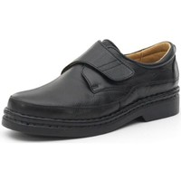 Schuhe Herren Derby-Schuhe Calzamedi bequeme Schuhe mit Klettverschluss von Hand genäht SCHWARZ
