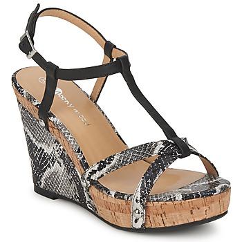 Schuhe Damen Sandalen / Sandaletten Moony Mood NILO Schwarz