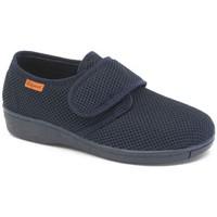 Schuhe Damen Sneaker Low Calzamedi komfortablen inländischen postoperative BLAU