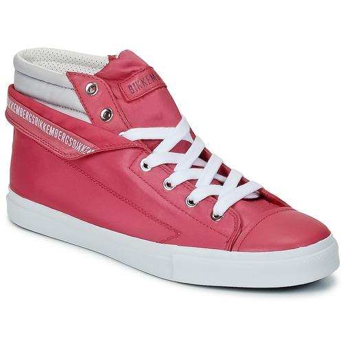 Bikkembergs PLUS 647 Pink / Grau Schuhe Sneaker High Damen 81,50
