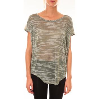 Kleidung Damen T-Shirts Dress Code Top à sequins R5523 vert Grün