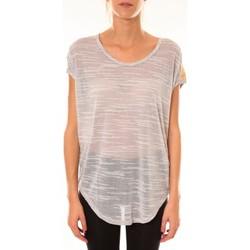 Kleidung Damen T-Shirts Dress Code Top à sequins R5523 gris Grau