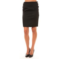 Kleidung Damen Röcke Dress Code Jupe D1452 noir Schwarz