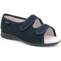 Schuhe Damen Hausschuhe Calzamedi offenen Klett orthopädische Sandale BLAU