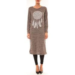 Kleidung Damen Kurze Kleider By La Vitrine Robe Plume prune Violett