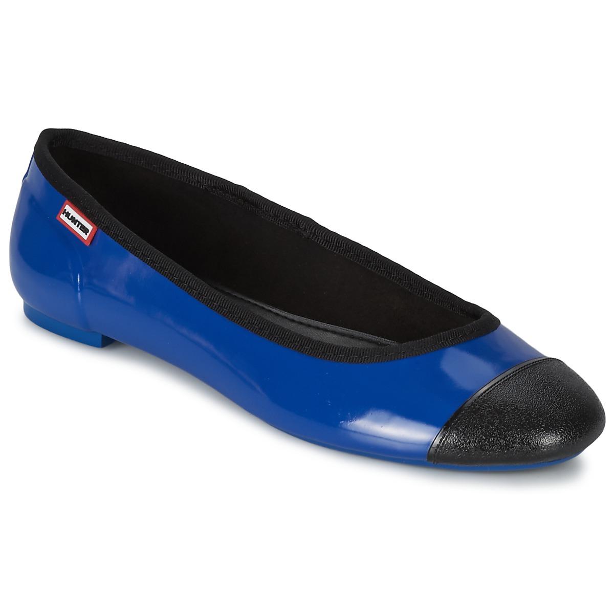 Hunter ORIGINAL BALLET FLAT Blau - Kostenloser Versand bei Spartoode ! - Schuhe Ballerinas Damen 59,39 €