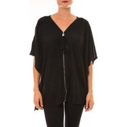 Kleidung Damen T-Shirts De Fil En Aiguille Cardigan MC1209 noir Schwarz