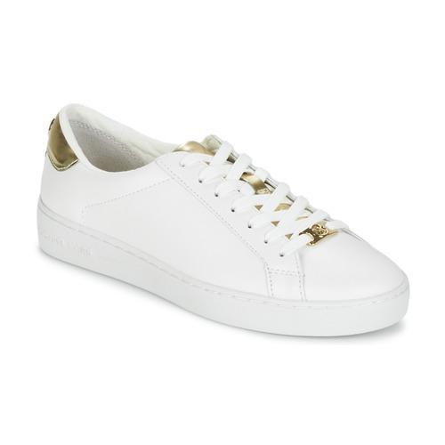Schuhe Damen Sneaker Low MICHAEL Michael Kors IRVING Weiss / Goldfarben